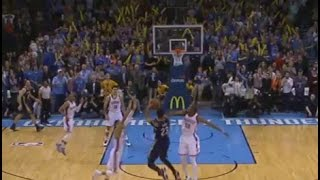 anthony davis buzzer beater game winner double clutch three pointer pelicans at thunder