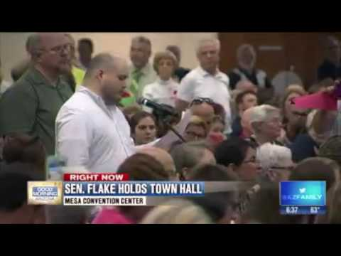 Jeff Flake's Town Hall Trouble