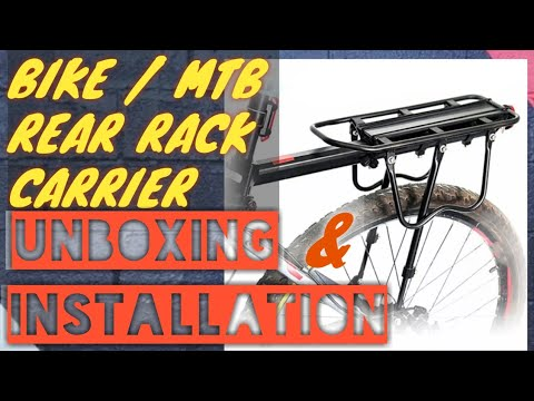 how to install a dirza bike cargo rack