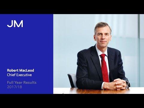 Chief Executive Robert MacLeod: Full Year Results 2017/18