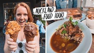 Auckland Food Tour - Trying DELICIOUS New Zealand FOODS! 🇳🇿- Lamb, Hokey Pokey and Hangi 😍