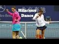 HD Hilarious Dance Moments (Funny,Djokovic,Nadal,Federer,Murray,Williams)