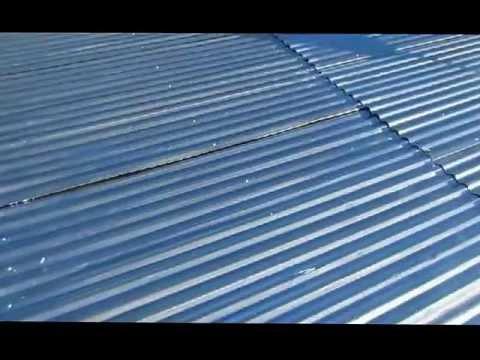 El techo de casa pintado de aluminio youtube for Como encielar un techo