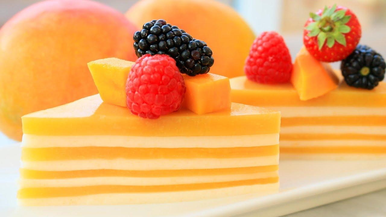 Jelly Cake Recipe Easy: Easy Mango And Strawberry Jelly Cake(Agar Agar) Recipe