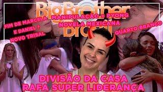 BBB20 - Fim de Marcela e Daniel?, QUARTO BRANCO, Rafa Líder da Discórdia, divisão da Casa