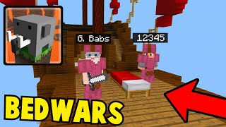 Playing BEDWARS in Craftsman Building Craft (AWESOME)