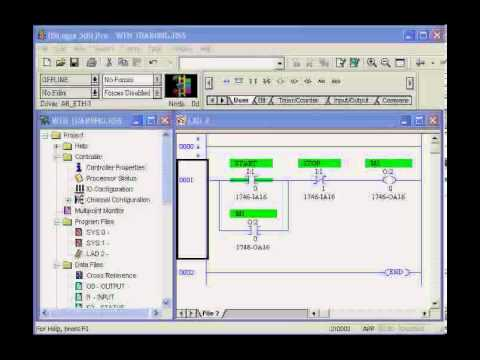 5 Wire Start Stop Diagram Plc Training Introduction To Ladder Logic Youtube