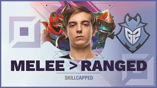 How G2 Caps Beats RANGED Champions as MELEE? | Skill Capped