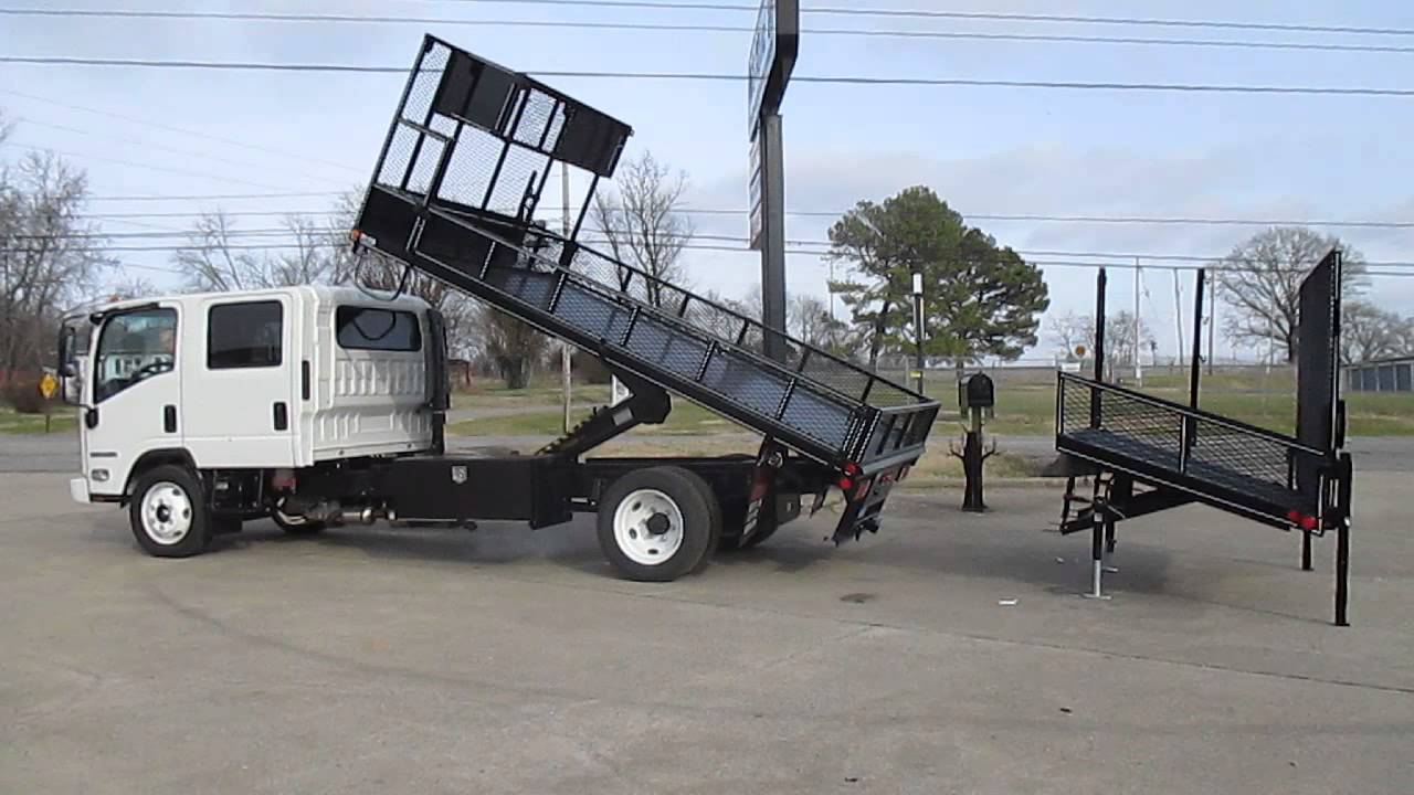 Wil Ro Landscaper Removable Dovetail Dump Landscape Truck