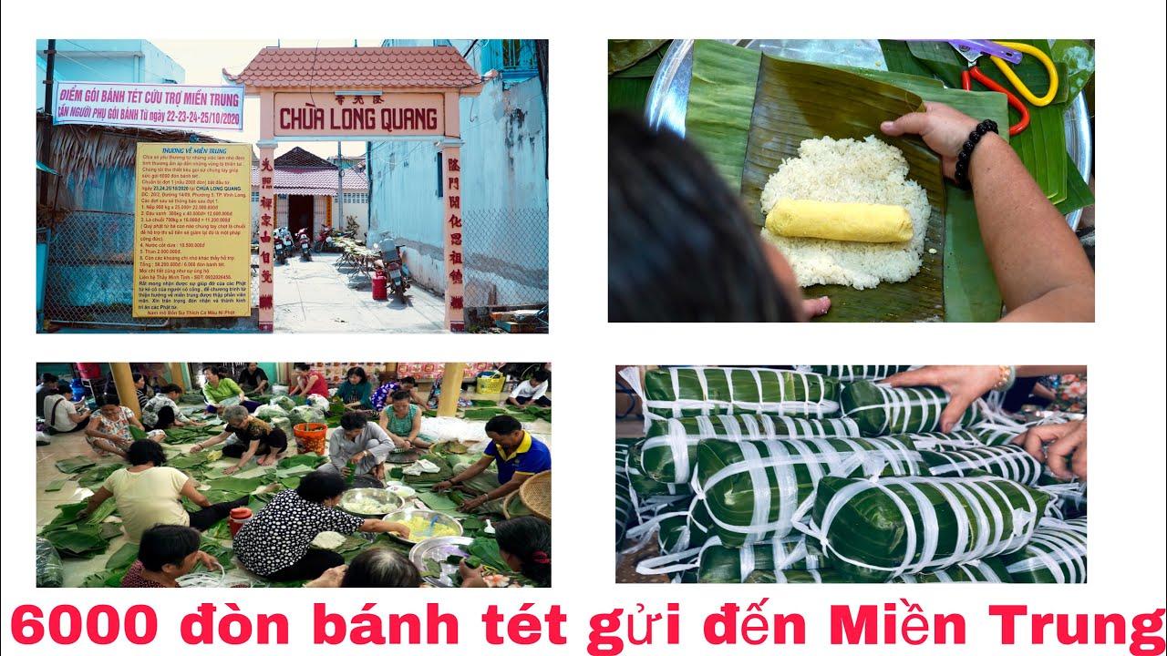 Hoạt động thiện nguyện gói 6000 đòn bánh tét tại chùa Long Quang ở Vĩnh Long | Khương Nhựt Minh