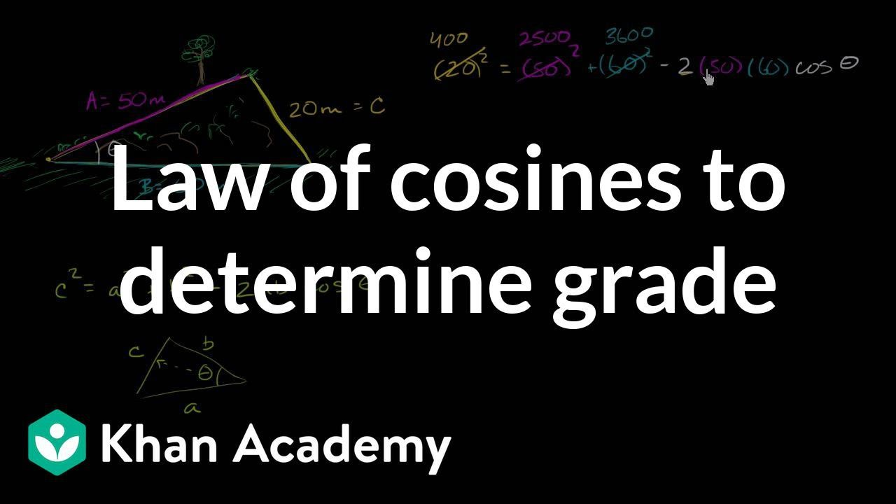 Law of cosines: solving for an angle | Trigonometry (video ...