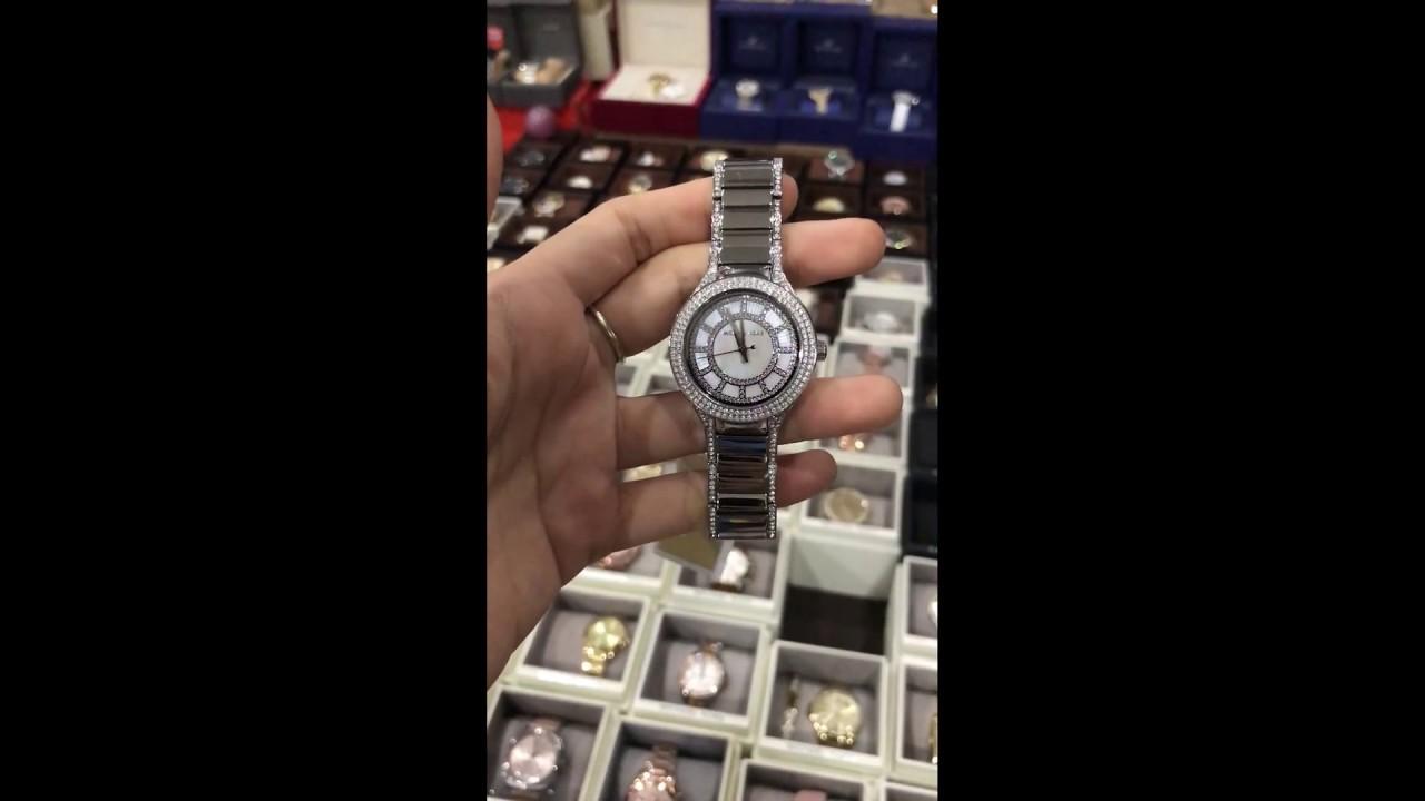 8d51dd14463f Michael Kors MK3441 Women s Mini Kerry Silver Stainless Steel Watch ...