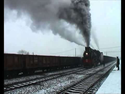 Chinese steam JS 8065 arrives light & makes spectacular departure Pingdingshan China