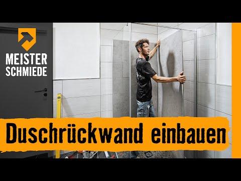 Beliebt Duschrückwand einbauen | HORNBACH Meisterschmiede - YouTube NQ68