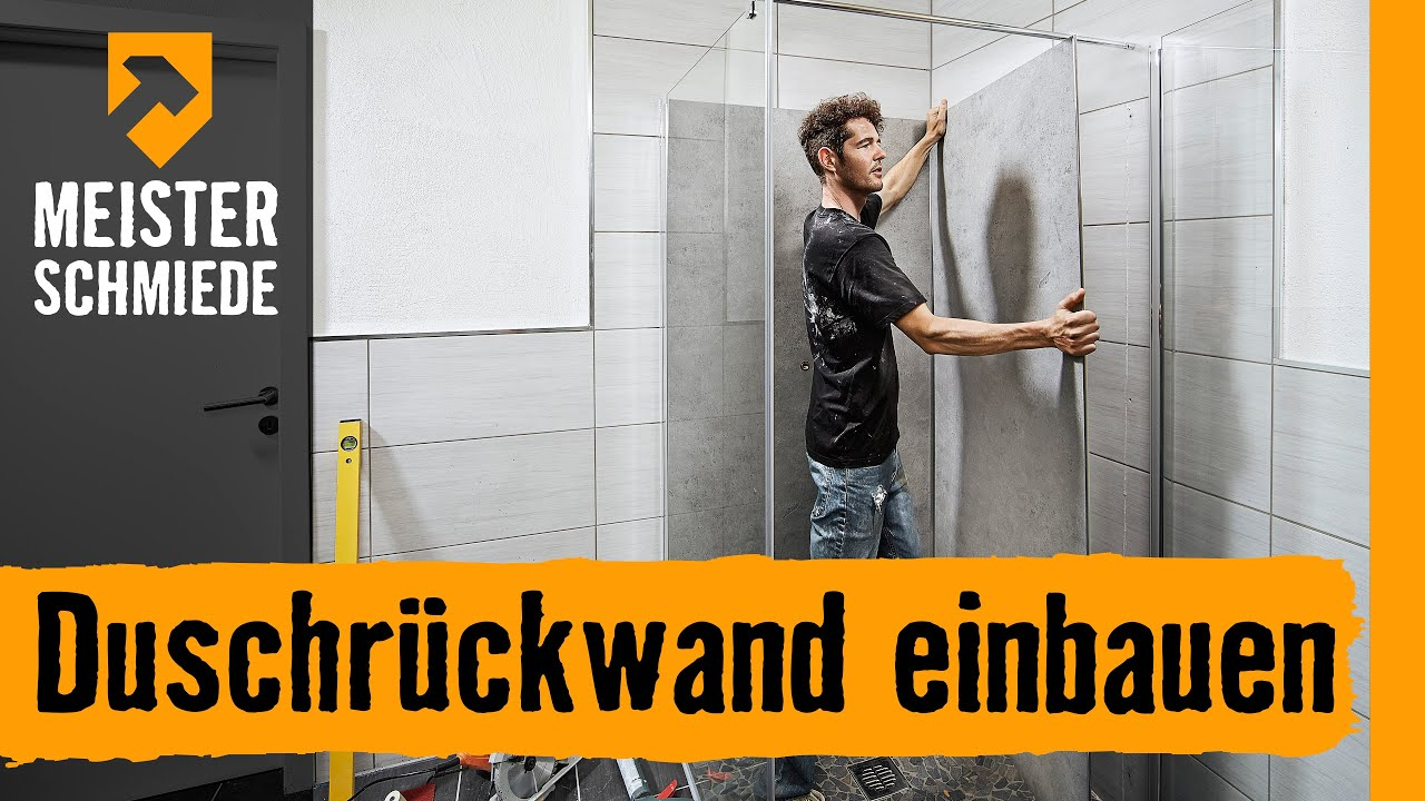 Duschrückwand einbauen HORNBACH Meisterschmiede - YouTube
