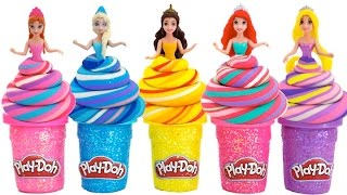 Learn Colors Play Doh Disney Princess Dresses Ariel Magiclip Candy Finger Family Nursery Rhymes! RL