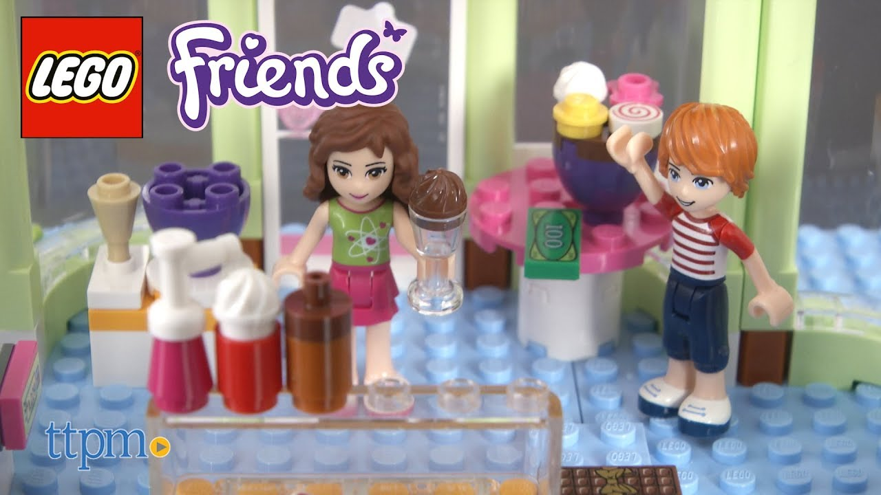 Lego Friends Heartlake Frozen Yogurt Shop From Lego Youtube