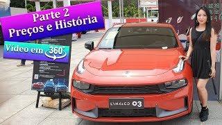 PREÇOS!! FEIRA de AUTOMÓVEIS, Carros Chineses - Parte 2 (vídeo em 360 graus insta360 one x)