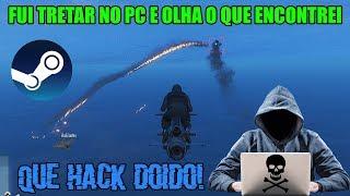 GTA 5 - FUI TENTAR TRETAR NA SESSÃO DO PC E EIS QUE APARECE O HACK!