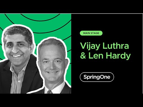 Vijay Luthra and Len Hardy at SpringOne 2020