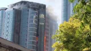 Пожар в Одессе 29.08.15 (в центре Гагаринского плато в Аркадии)