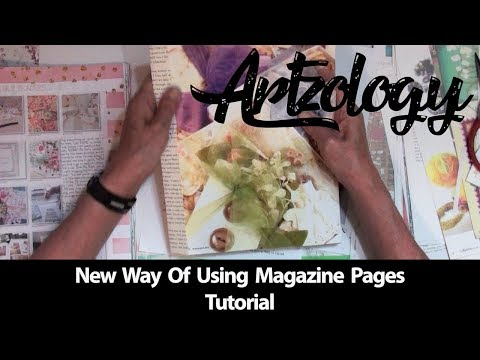 New Way Of Using Magazine Pages - Tutorial