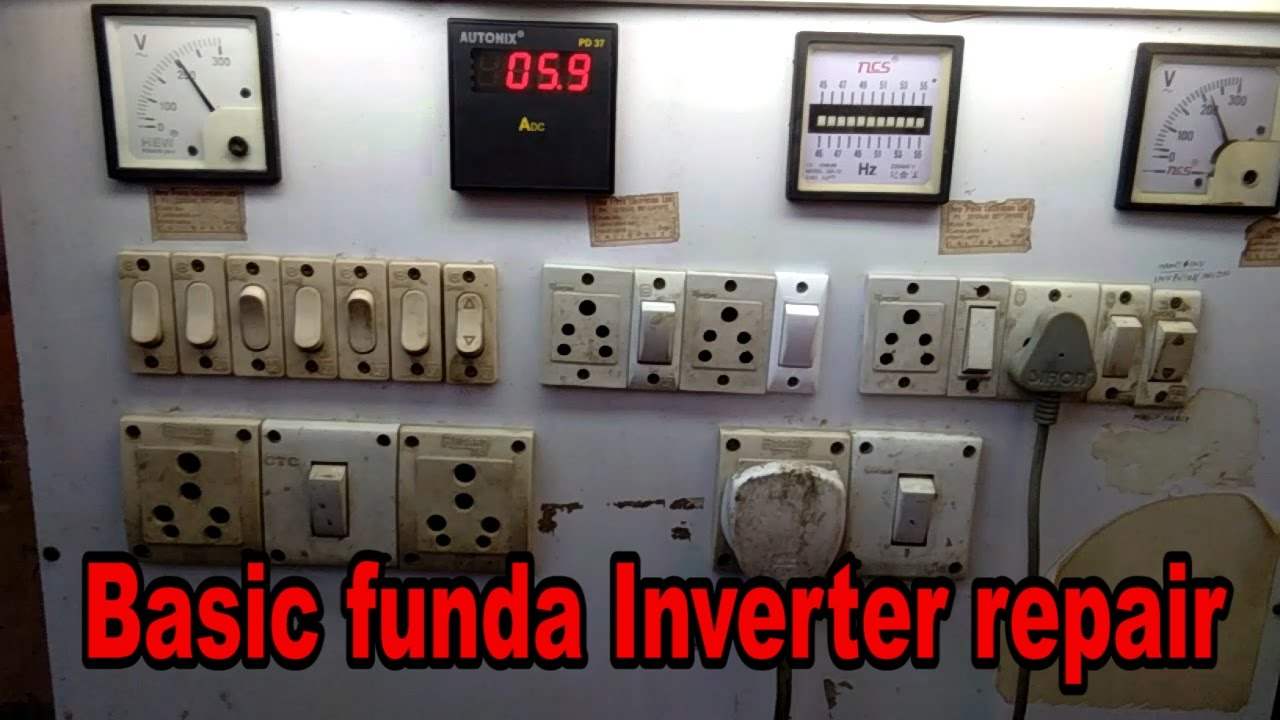 Inverter Repair In Hindi How To Power Card Fault House Wiring Book Part 4