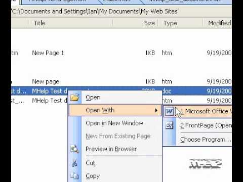 Microsoft Office FrontPage 2003 Open a Word document in FrontPage