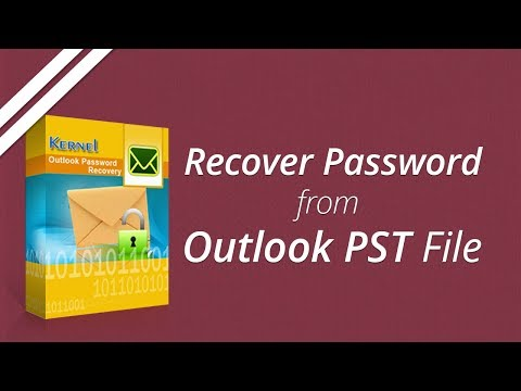 Recover Lost PST Password With Kernel Outlook Password Recovery Tool