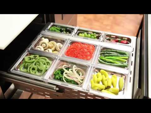 True® TFP Refrigerated Prep Table Features | Pans, Drawers, And Cutting Boards | Stainless Steel
