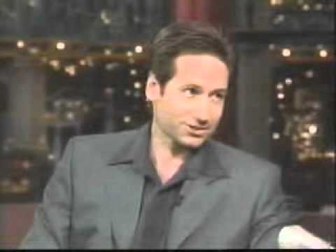 David Duchovny on Letterman 2000