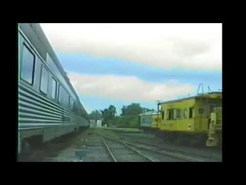 Variety of Old Passenger and Freight cars at Railway Expo, Covington KY1994