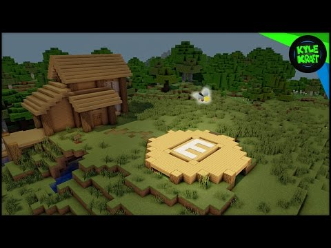 Minecraft ELYTRA Landing Pads! (How To Build Tutorial)
