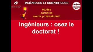 Ingénieurs : osez le doctorat !
