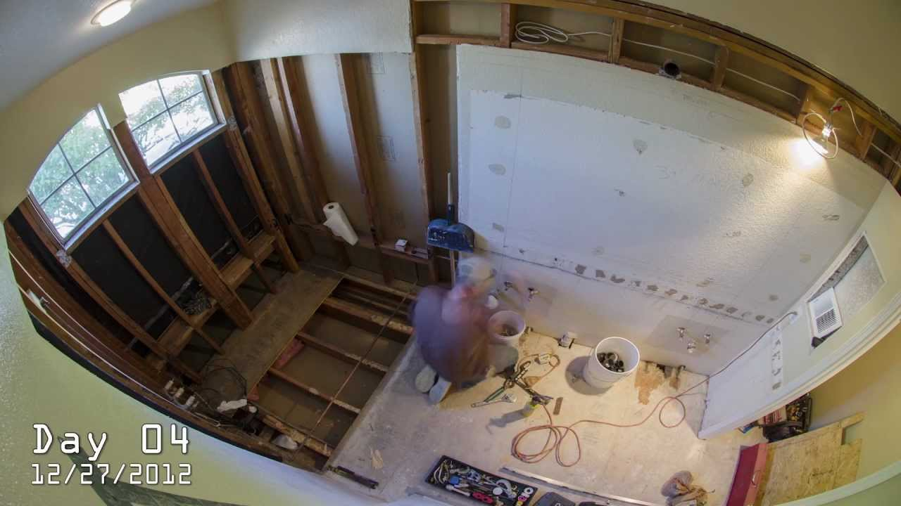 Bathroom Renovations Youtube time-lapse of complete bathroom remodel - youtube