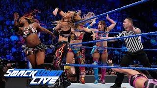 Asuka, Sane, Bayley & Moon vs. The IIconics, Rose & Deville: SmackDown LIVE, April 16, 2019