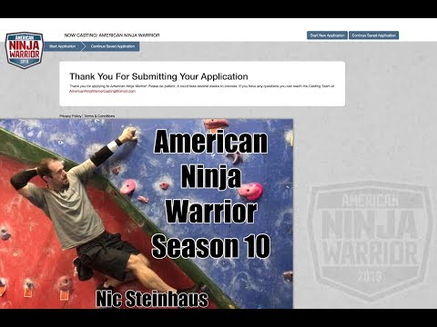 Nic Steinhaus - AMERICAN NINJA WARRIOR SEASON 10 2018 Submission Video #ANW10 #ANW