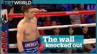 US boxer wearing 'Trump wall' beaten by Mexican opponent