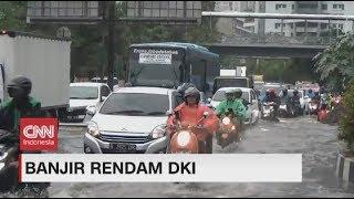 Hujan Deras & Angin Kencang, Jalan Ibu Kota Terendam Banjir