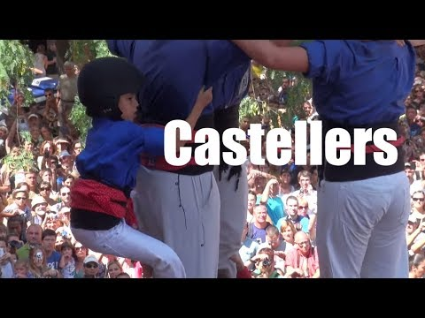 Castellers (human towers) Barcelona, Catalonia, Spain