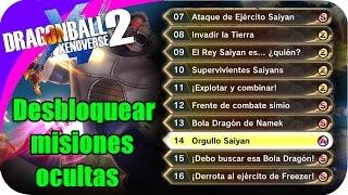 COMO DESBLOQUEAR TODAS MISIONES SECUNDARIA EN DRAGON BALL XENOVERSE 2 PS4 SHOLO GAMER23