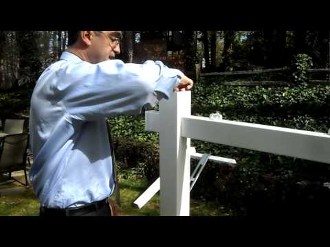 Real Estate Sign Post, Vinyl PVC, Easy to Assemble