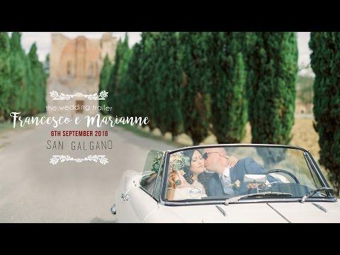 Francesco & Marianne. Wedding Trailer in Abbazia di San Galgano e Villa Podernovo (Siena)