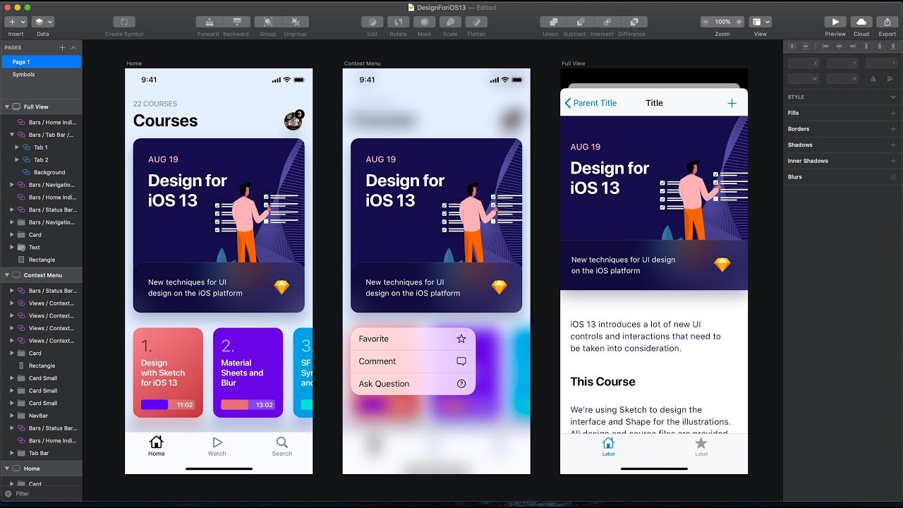 Design for iOS 13: UI Kit in Sketch