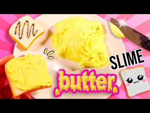 ¡¡BUTTER SLIME!! * La mejor Receta para hacer SLIME de MANTEQUILLA (sin bórax)