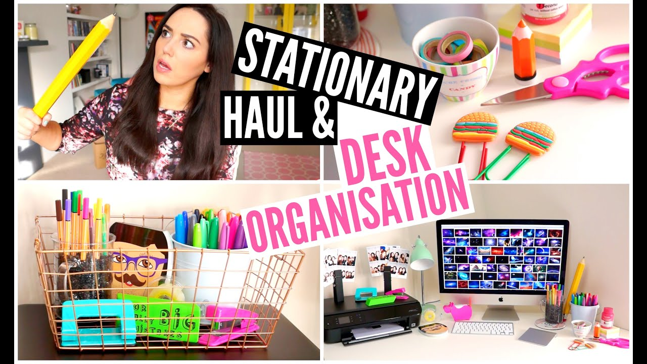 Decorating Ideas For Girls Bedroom Desk Organisation Amp Stationary Haul Velvetgh0st ♡ Youtube