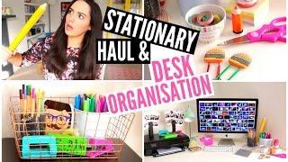 Desk Organisation & Stationary HAUL | velvetgh0st ♡
