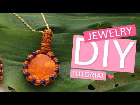 DIY Tutorial – Armbänder und Anhängern aus Macramé und Perlen – Selbst Schmuck machen