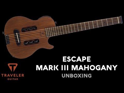 Traveler Guitar Escape Mark III Mahogany Unboxing