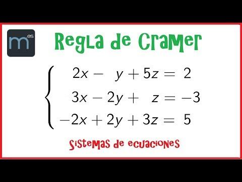 método-de-cramer,-sistemas-de-ecuaciones-lineales,-determinantes